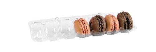packnwood klar Kunststoff Macaron einfügen (verschiedene Größen), 7 Macarons, 75