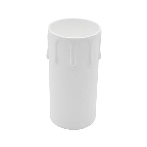 3 portavelas E27 blanco 85 mm gota 40 mm diámetro