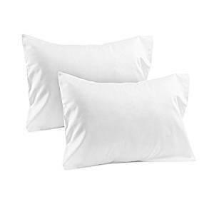 Bedify Collection American Größe Set of 2Kissen Fall Fadenzahl 400Standard 50,8x 66cm Zoll Export Qualität Weiß Solide Ägyptische Baumwolle, Baumwolle, weiß, Toddler 12x16'' Travel Pillow (Bedskirt 12-zoll-drop)