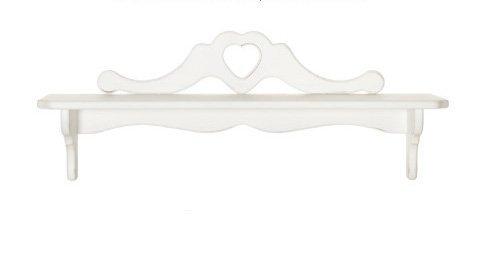 Mensola con ripiano in legno con cuore centrale disponibile in diverse rifiniture L'ARTE DI NACCHI 4994/1BG