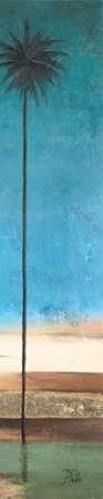 Feeling at home, Stampa artistica x cornice - quadro, fine art print, Thin Palms II (In Colori Costiere) cm 168x33