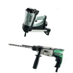 Hitachi Gas-Beton-Nagler NC 40G Gas-Beton-Nagler inkl. Elektronik Bohrhammer DH 22PG (Gas Hitachi)