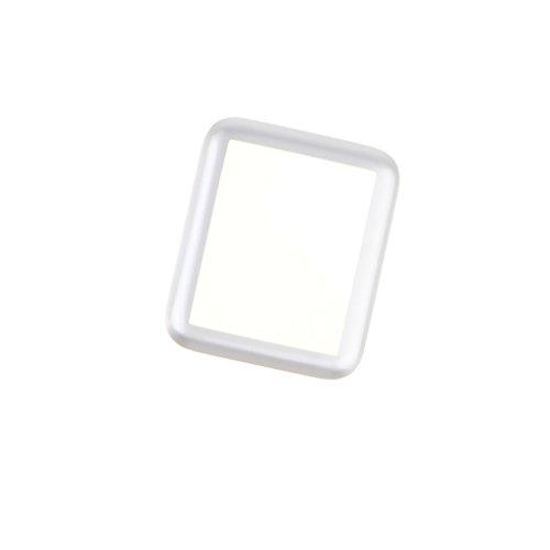 Preisvergleich Produktbild perfk 42mm Ultardünn Displayschutzfolie Hartglas Schutzfolien Ganzkörper Abdeckung aus Gehärtetes Glas für iWatch Series - Silber