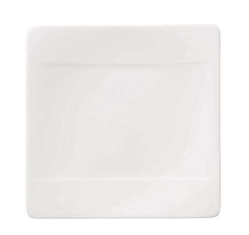 Villeroy & Boch 16cm x 16cm Brotteller Modern Grace aus Premium Bone Porzellan in Uni-Weiß Grace Bone China