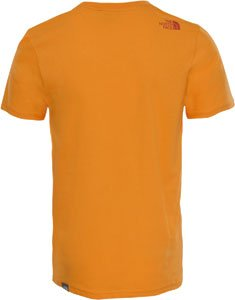 The North Face Herren T-Shirt M Shortsleeve Easy Tee Orange (Zinnie orange)