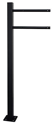 V2Aox Briefkasten Standfuß Briefkastenständer Ständfüße Ständer Freistehend Schwarz 1 Fuß