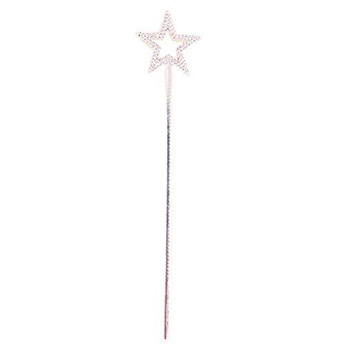 Lurrose Sterne Fee Zauberstab Prinzessin Zauberstab Cosplay Party Dekoration Supplies (Silber) (Abs Leistung Halloween)