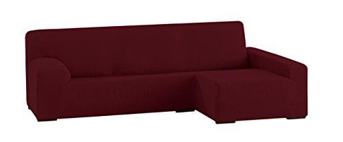 Eysa ulisse copridivano elastico per divano con chaise longue colore rosso granata shop - Copridivano per divano con chaise longue ...