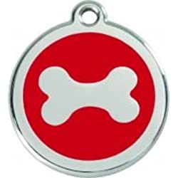 Médaille Chien RED DINGO Os Rouge 38mm