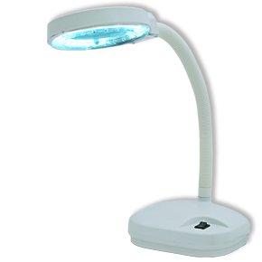 Laron S3102W Maniküre Tisch Lupenlampe in weiß mit 3 Dioptrien von Sagenta GmbH bei Lampenhans.de