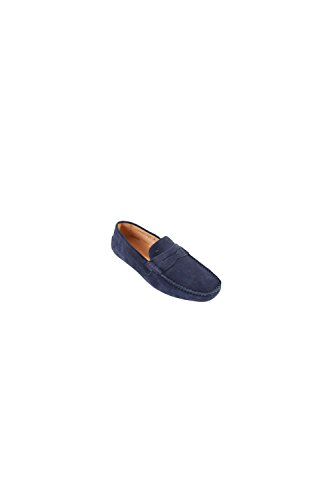 Mocassins Avec Bride Wellington En Daim Navy