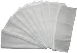 10 de la muselina diseño de cuadrados de estilo blanco Talla:70x80