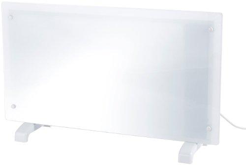 Carlo Milano Wärmewellenheizung: Stilvoller Premium Glas-Konvektor, 1.000 W (Glas Konvektor Heizungen)