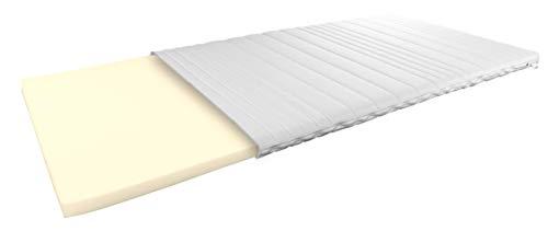 AM Qualitätsmatratzen Visco Topper 200 x 220 cm - 6 cm hoch - Anpassungsfähige, viscoelastische Matratzenauflage 200 x220 - Viskose Topper 6cm hoch - Made in Germany