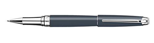 Caran d'Ache Leman, versilberter Tintenroller, Mattschwarz Rollerball Pen grau