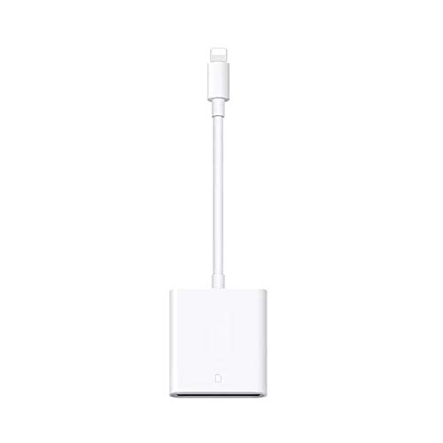 8Eninide Card Reader Compatible OTG Data Cable Digital Camera Kit for iPad Apple White