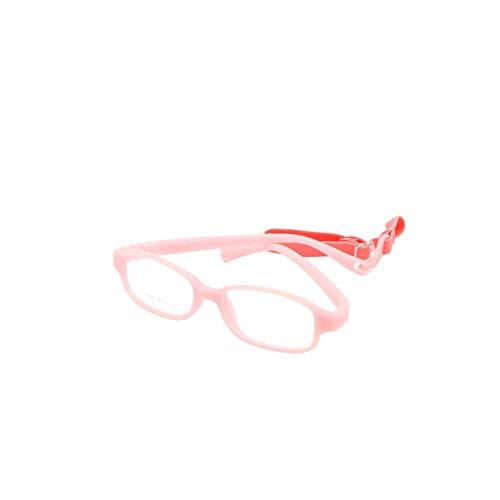 EnzoDate Jungen kinder rahmen der optischen gläser mit gurt größe 49-16, keine schraube flexible junge brille, einteilige gläser mit cord 49-16-130 rosa