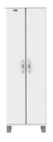 tenzo 5290-005 Malibu Designer Garderobenschrank, 185 x 60 x 41 cm, MDF lackiert, weiß