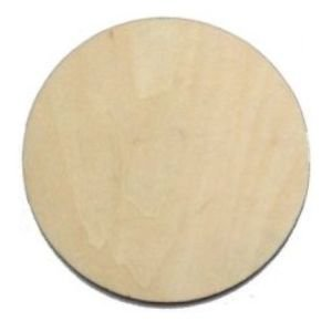 10 x Wooden Circle Shapes, Plain Wood Craft Tags 50mm (5cm)