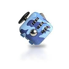 Be Squared Déstresser Boule et l'anxiété Cube-Sensorielle jouet pour adultes et enfants (Motif Bleu)