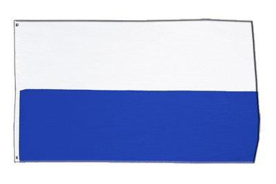 Fahne / Flagge Streifen weiß-blau + gratis Sticker, Flaggenfritze®
