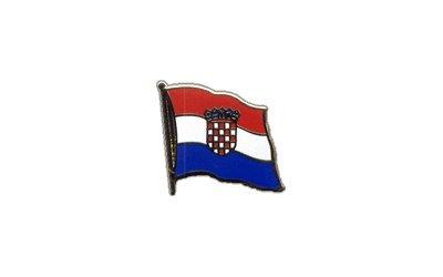 Flaggen-Pin/Anstecker Kroatien vergoldet
