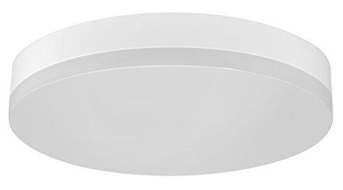 Müller-Licht LED Wand- und Deckenleuchte ideal für den Flurbereich, rund, mit Bewegungs- und Dämmerungssensor, 24 W, 3000 K, Plastik, Warmweiß, mit mit Sensor -