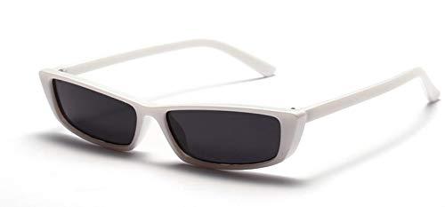 TYJYTM Retro Kleine Sonnenbrille Rechteckig Frauen Geschenk Weiß Rot Schwarz Quadrat Katzenauge Sonnenbrille Weiblich Männlich Uv400