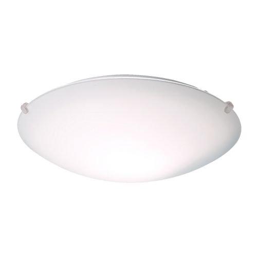 "Lámpara de techo ""Späcka"" de Ikea, redonda, de acero con pantalla de acrílico satinado, luz dispersa,9cm de alturay25cm de diámetro"