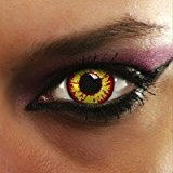 Farbige Kontaktlinsen Red Wolf mit Kontaktlinsenbehälter