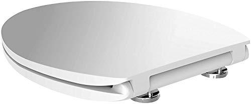 Antikalkblitz WC-Sitz-mit-Absenkautomatik in Weiß | Stabiler Toilettensitz + Klodeckel mit Geräuschloser Softclose-Technik und patentierten CLICK Schnellösesystem