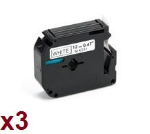 3-x-m-k231-12mm-x-8m-black-on-white-label-tapes-compatible-with-brother-p-touch-cintas-para-impresor
