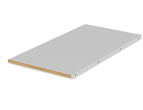 Tenzo 1690-012 Dot Designer Allonge supplémentaire de Table de Salle à Manger 1681-012, Gris, Plateau Panneaux MDF ép. 25 mm laqués Chêne, 2,5 x 45 x 90 cm (HxLxP)