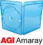 Amaray - Custodie per dischi blu-ray, dorso da 14 mm, confezione da 25