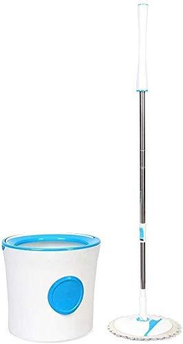Semplicità domestica spinning semplicità domestica mop spinning semplicità domestica set scopa e secchio set pulizia secchio a botte lavaggio e disidratazione 2 in 1 vassoio pieghevole blu semplicità
