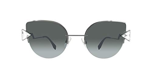Fendi Damen FF 0242/S 9O KJ1 Sonnenbrille, Grau (Dark Ruthenium/Grey), 52