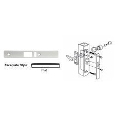Deadlatch Lock (CRL Aluminum Flat Faceplate for DL2140 Deadlatch Locks DL2141A by CRL)