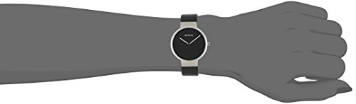 Bering Time  – Reloj Analógico de Cuarzo para Mujer, correa de Cuero color Negro