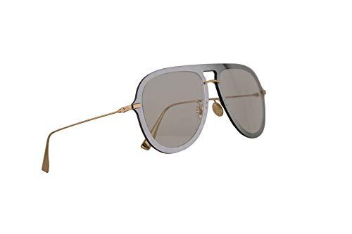 Dior Christian DiorUltime1 Sonnenbrille Silber Grün Mit Grauen Gläsern 57mm VGVA9 Diorultime 1 Ultime1