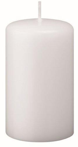 Bougies Pilier Blanc 12 x 4 cm, Lot de 16