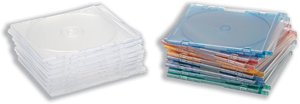 Compucessory CD Case Slimline Jewel for 1 Disk W125xD5xH124mm Assorted Ref CCS95509 [Pack of 100]