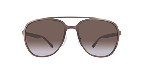 BOSS Orange Herren BO 0301/S HA BU0 Sonnenbrille, Braun (MTBRW HRNWAL/BW BROWN), 56