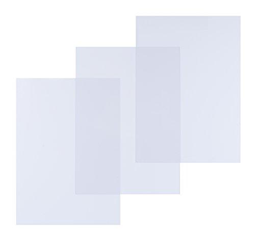 Pavo Boîte de 100 Couvertures de reliure en polypro 200 microns A4 Transparent