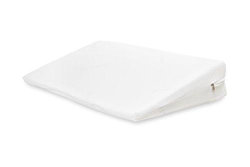 Keilkissen Ben Matratzen-Keil 90x45x15 cm orthopädische Bett-Keil Kissen Kissenkeil für Boxspringbett Schaumstoff Matratzenerhöher Bettkeilkissen Weiß