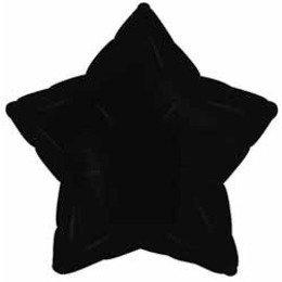 Black Star Mylar Balloon by CTI Industries Corp