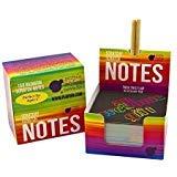 Purple Ladybug Novelty Scratch-Zettelblock mit 2 Holzgriffeln 150 St. schwarzes Kratzpapier mit Regenbogenfarbenem Grund zum Schreiben und Basteln | Papier für Notizen-, Glückwunschzettel u. v. m. (Pad Smart Junior)