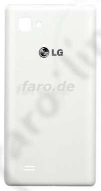 Original LG Akkudeckel weiß für LG E975 Optimus G - mit NFC-Antenne (Akkufachdeckel, Batterieabdeckung, Rückseite, Back-Cover) - EAA62946606 (Lg G E975)