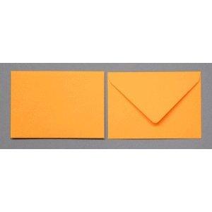Blanke Briefumschläge 90x140mm 120g/qm gummiert VE=100 Stück zartorange
