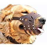 Muselière chien réglable JeonbiuPet Anti morsure écorce permettent de boire en cuir souple