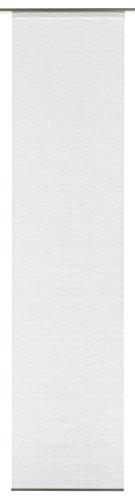 Gardinia tenda a pannello (1 pezzo), scorrevole, opaco, tenda a pannello look naturale, effetto stropicciato, bianco, 60 x 300 cm (lxa)